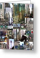 New York City Collage Greeting Card