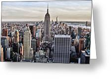 On Top Of The Rock Greeting Card