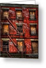 New York City Graffiti Building Greeting Card