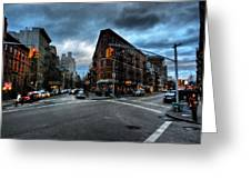 New York City - Greenwich Village 012 Greeting Card by Lance Vaughn