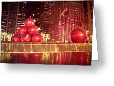 New York City Holiday Decorations Greeting Card