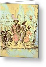 New York City Jews - Fine Art Greeting Card