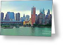 New York City Landscape Greeting Card