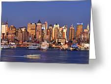 New York City Midtown Manhattan At Dusk Greeting Card