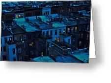 New York City Nightfall Greeting Card
