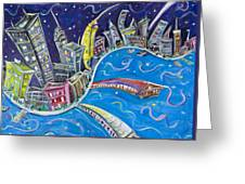 New York City Nights Greeting Card