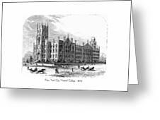 New York City Normal College - 1870 Greeting Card