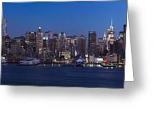 New York City Panorama At Dusk Greeting Card