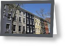 New York City Rainbow Row Greeting Card