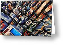 New York City Sky View Greeting Card