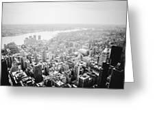 New York City Skyline - Foggy Day Greeting Card