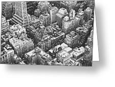 New York City - Skyline In The Snow Greeting Card