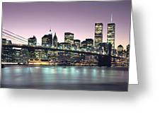 New York City Skyline Greeting Card by Jon Neidert