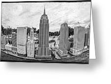 New York City Skyline - Lego Greeting Card by Edward Fielding