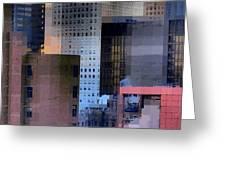 New York City Skyline No. 3 - City Blocks Series Greeting Card