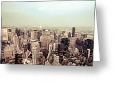 New York City - Skyline On A Hazy Evening Greeting Card by Vivienne Gucwa