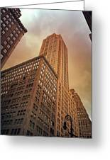 New York City - Skyscraper And Storm Clouds Greeting Card