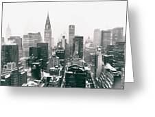New York City - Snow-covered Skyline Greeting Card