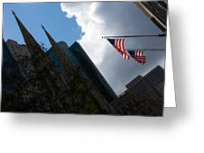 New York City Stars And Stripes Greeting Card