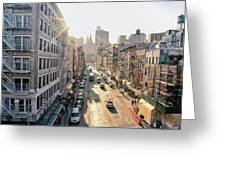 New York City - Sunset Above Chinatown Greeting Card