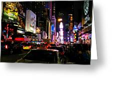 New York City - Times Square 002 Greeting Card by Lance Vaughn
