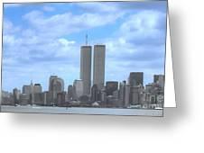 New York City Twin Towers Glory - 9/11 Greeting Card
