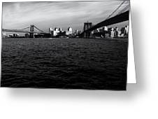 New York City - Two Bridges Greeting Card