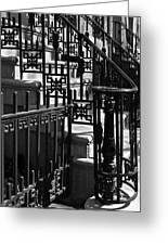 New York City Wrought Iron Greeting Card by Rona Black