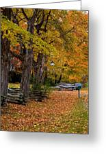 New York Fall Greeting Card