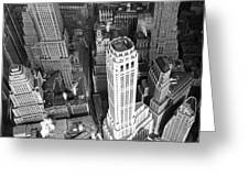 New York Financial District  Greeting Card