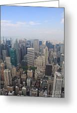 New York From Above Greeting Card