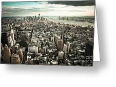 New York From Above - Vintage Greeting Card