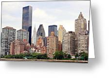 New York From Roosevelt Island Greeting Card