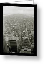 New York From The Trade Towers Greeting Card