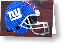New York Giants Nfl Football Helmet License Plate Art Greeting Card