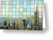 New York Golden Panorama Greeting Card