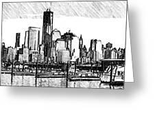 New York Harbor Greeting Card