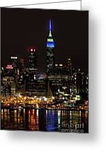 New York Honors Seattle Seahawks Greeting Card