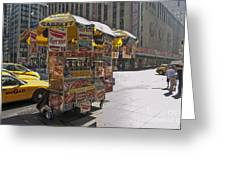 New York Hotdog Stand Greeting Card
