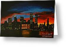 New York In Glory Days Greeting Card