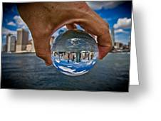 New York In My Hand - Sferic Manhattan Greeting Card