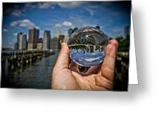 New York In My Hand - Sferic Manhattan II Greeting Card