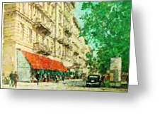 New York In The Forties Greeting Card