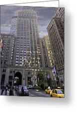 New York In Vertical Panorama Greeting Card