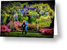 New York Lovers In Springtime Greeting Card
