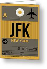 New York Luggage Tag Poster 3 Greeting Card