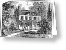 New York: Mansion, 1763 Greeting Card
