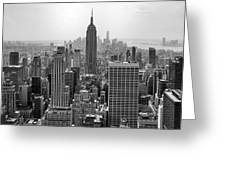 New York Moody Skyline  Greeting Card