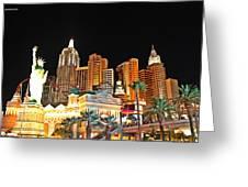 New York New York Hotel And Casino Greeting Card