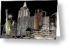 New York New York In Las Vegas Greeting Card